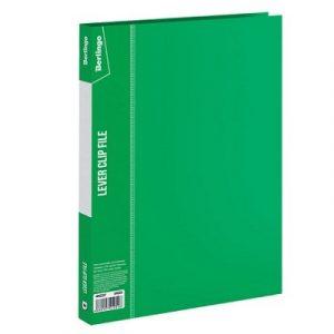 Թղթապանակ Berlingo A4, 17մմ, սեղմակով, կանաչ13251