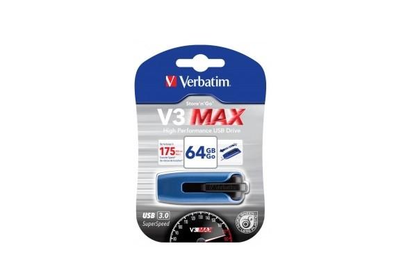 Ֆլեշ հիշողության սարք Verbatim v3 max, 64GB 30708