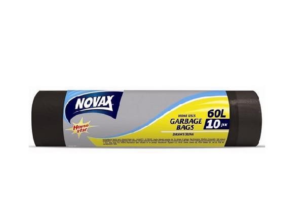 Աղբի պոլիէթիլենային տոպրակներ Novax 60լ, 10հատ 20207