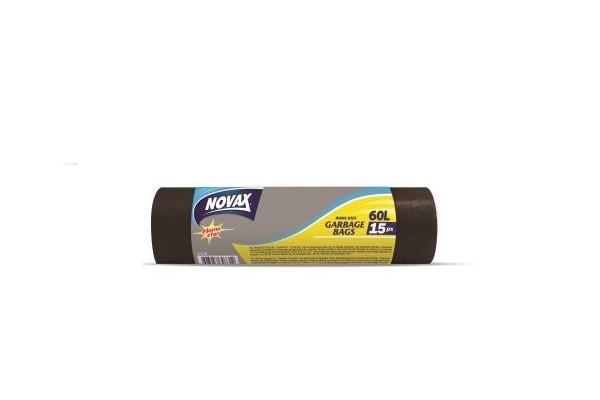 Աղբի պոլիէթիլենային տոպրակներ Novax 60լ, 15հատ 20202