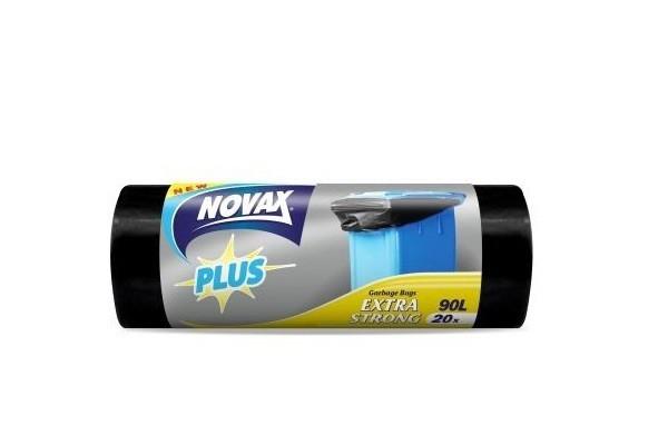Աղբի պոլիէթիլենային տոպրակ Novax 90լ 20հատ 20203