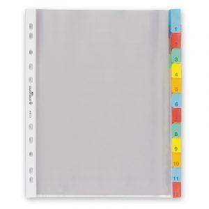 Պլաստիկ էջաբաժանիչ А4 գունավոր,12 բաժին 10602