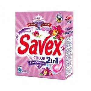 Լվացքի փոշի Savex, գունավոր, ավտոմատ, 400գր. 22209