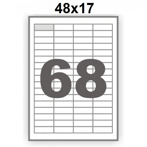 Ինքնասոսնձվող թուղթ А4, 65 մասից, 48х17մմ 12201