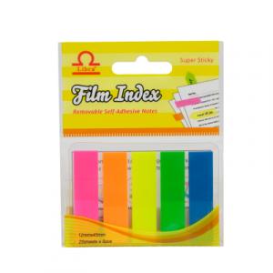 Էջանիշ պլաստիկ Libra, 5 գույն, 25-ական էջ 13301