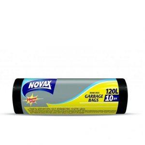 Աղբի պոլիէթիլենային տոպրակներ Novax 120լ,10հատ, հաստ 20205