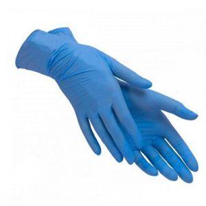 Միանգամյա ձեռնոցներ Nitryl կապույտ L, 100հատ 21522