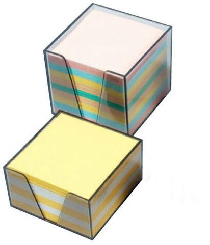Նշումների թուղթ պլաստիկ տակդիրով, գունավոր, 90մմx90մմ,700հատ 13310