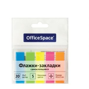 Էջանիշ պլաստիկ OfficeSpace, 5 գույն, 20-ական էջ 13320