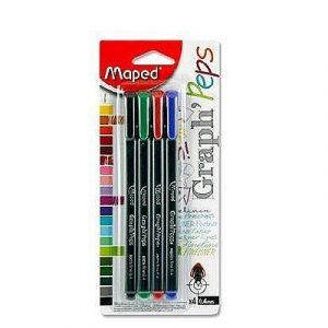 Գրիչ գելային Maped Graph' peps, 4 գույն 13105