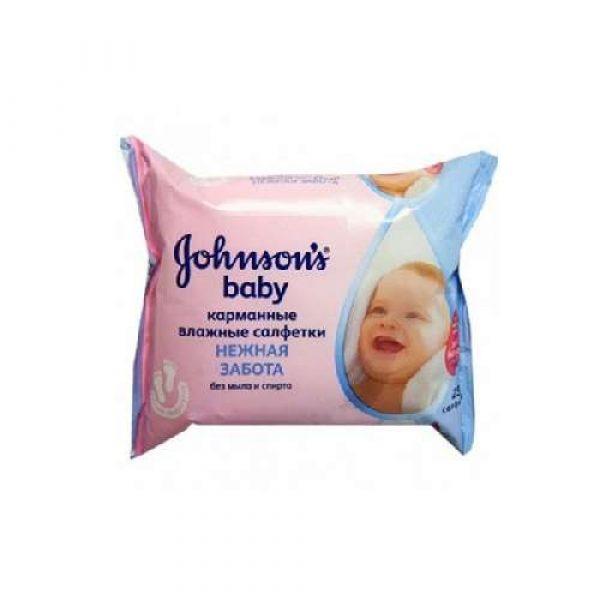 Խոնավ անձեռոցիկ johnson's baby, 25հատ 20319