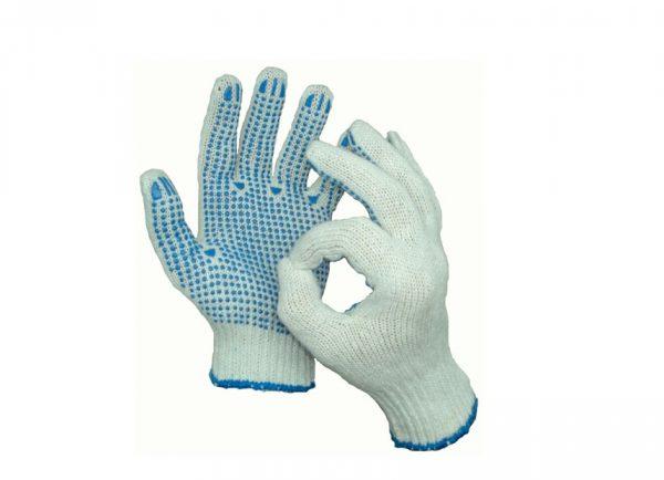 Բանվորական ձեռնոցներ ռետինե մակերեսով, հաստ 21510