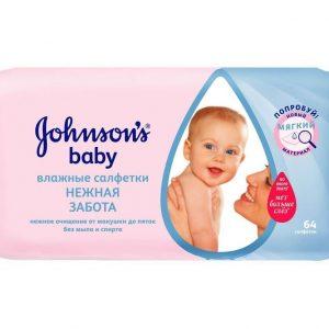 Խոնավ անձեռոցիկ johnson's baby, 64հատ 20317