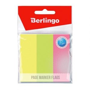 Էջանիշ Berlingo, կպչուն 76×25մմ, 3 գույն, 100-ական էջ 13324