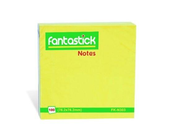 Թղթեր նշումների համար Fantastick, կպչուն, 76.2մմx76.2մմ,100հատ 13316