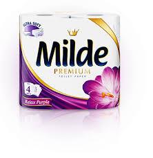 Զուգարանի թուղթ Milde, 4հատ 22118