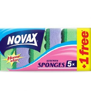 Սպասքի լվացման սպունգ NOVAX, 5հատ 21806