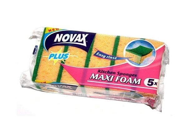 Սպասքի լվացման սպունգ NOVAX, 5հատ 21801