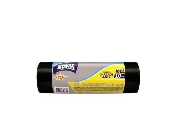 Աղբի պոլիէթիլենային տոպրակներ Novax 160լ, 10հատ 20206